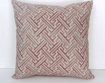 Pillow Cover Throw Pink Burgundy Cream Green Floral