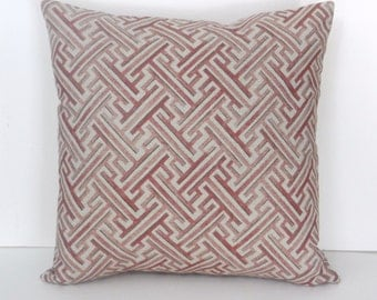 Burgundy Print Throw Pillows : Pillow Cover Throw Pink Burgundy Cream Green Floral