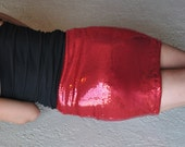 Small Red Sequin Skirt - last one! Thick and lined