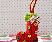Christmas socks ornament - crochet pattern DIY