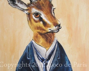 Mister Gazelle: Original Acrylic Painting on canvas