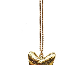 JAWS necklace - gold shark tooth