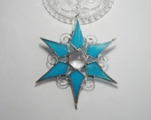 Turquoise, Star, Stained Glass, Suncatcher
