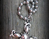 Rustic, Simple Silver Cross Necklace