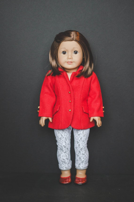 The Morgan leggings/pants with lace overlay for American Girl 18 inch doll clothes cute pants, capris