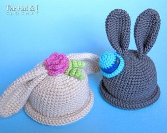 CROCHET PATTERN - Some Bunny Hat - bunny hat pattern for boys & girls, crochet hat pattern (Infant - Adult sizes) - Instant PDF Download