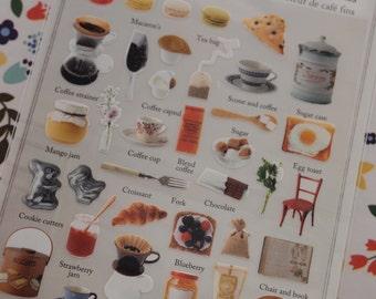 Le Marais Cafe Sticker (1 sheet)