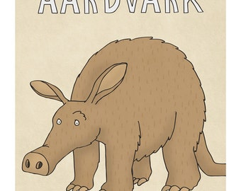 Aardvark - Illustration Print