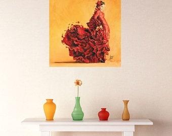 Flamenco Dancer Fine Art Decal - Passion by Karina Llergo Salto