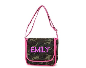 SALE 50% off Quilted Camoflage iPad/Tablet Messenger Bag,