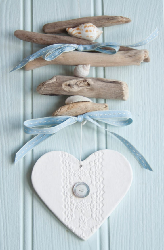 how to make hanging heart garland