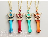 MADE to ORDER SET of 4 Star Power Stick Acrylic Necklace or Phone Strap Sailor Moon Inspired for Mahou Kei Fans