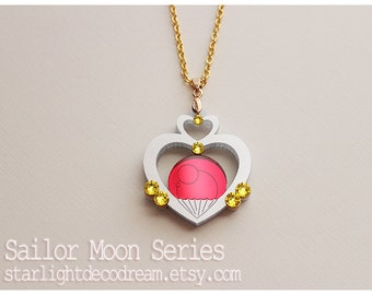 MADE TO ORDER Sailor Pluto Garnet Orb Talisman Sailor Moon Inspired Fanart Acrylic Necklace for Mahou Kei, Magical Girl Lover Fashion