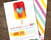 About to Pop Popsicle Baby Shower Invitations  – Printable