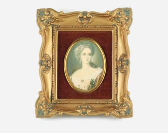 Vintage 'A Cameo Creation - Lady Dower' Framed Portrait Wall Plaque