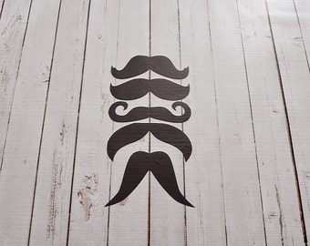 Vinyl Wall Decal Mustaches