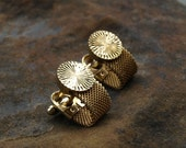 Vintage Gold Mesh Cuff Links Anson