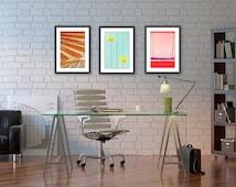 art prints // mid century modern art // summer wall art - set of bright modern photography prints (4x6, 5x7, 8x10, 8x12, 11x14, or 12x18)