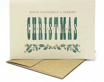 Christmas Holiday Cards - Merry Little Christmas -  by BIMPRESSED