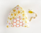 Beehive Tooth Fairy Pillow, Stuffed Toy, Honey Bee, Decorative Pillow, Kids Decor,  Kids, Keepsake, Special Occasion,