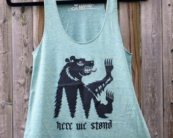 Game of Thrones // Mormont Bear Racerback Tank // Here We Stand