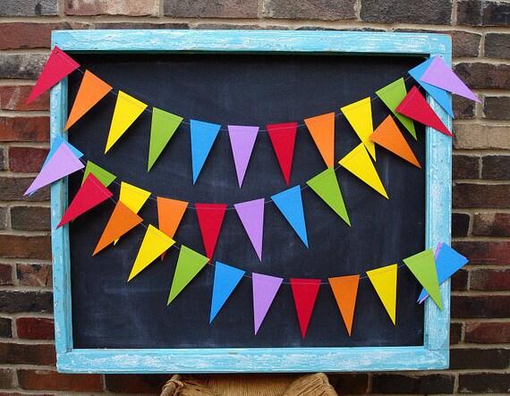 Rainbows 10ft. Pennant *** Rainbow Garland, Classroom Decor, 1st Birthday Boy, Photo Backdrop, Rainbow Nursery ***