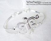 Wire Bracelet - The elegant twin Masterpiece