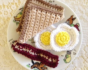 Crochet Breakfast Play Food Set-Made To Order