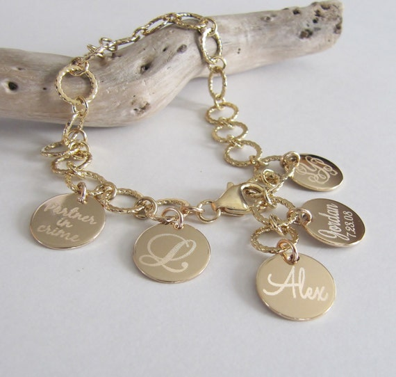 Mothers Jewelry Personalized Charm Bracelet By