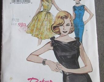 Butterick 6582 Misses Retro 1960 Sleeveless Dress Pattern Sizes 6-8-10 UNCUT