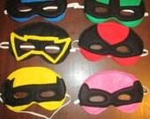 Power Ranger Inspired Dress Up Costume Masks felt