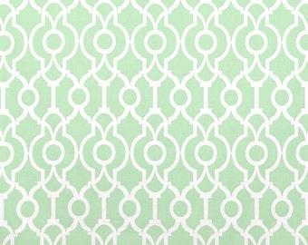 Artichoke Green Curtains. Lattice Lyon Window Drapes. All Sizes. Geometric Curtains Light Green