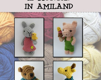 12 PATTERNS - crochet- 12 months in Amiland e-book - PDF instructions