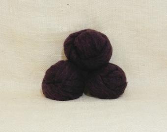 Needle felting wool batting in Blackberry, wool batting, felting supplies, Blackberry fleece, plum purple wool for spinning, felting