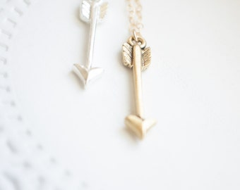Arrow Necklace | Archery Jewelry | Silver Arrow Necklace | Gold Arrow Necklace
