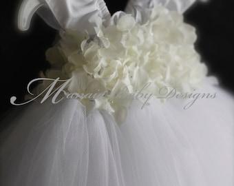 Baby Christening Dress / Baby Confirmation Dress/ Baby Baptism Dress/ Blessing Dress / Flower Girl Dress / Infant White Tutu Dress