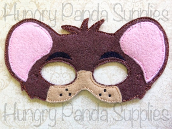 Dormouse Mask Embroidery Design Alice In By