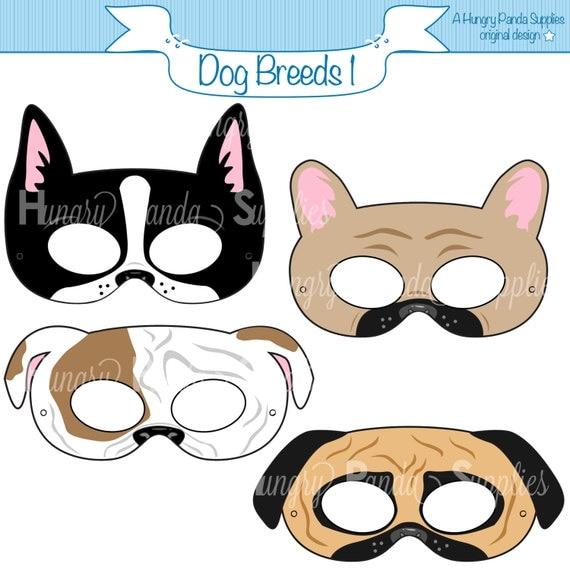 Witty image within printable dog masks
