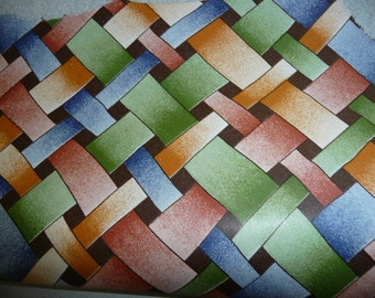 """Leather 12""""x12"""" Autumn Weave pattern cowhide 1.75-2 oz/ .7-.8 mm PeggySueAlso"""