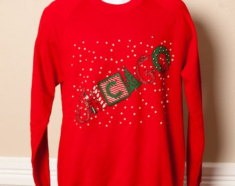 Vintage CHICAGO Christmas Sweatshirt - XL