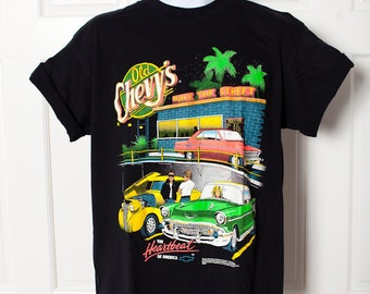 Bright Color Neon Black Tshirt - Old Chevy's