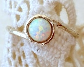 Opal ring, White Opal ring, Silver opal ring, Gemstone ring, Gold ring, white stone ring, October birthstone ring, dainty ring,stacking ring