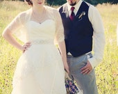 Wedding Lace Shawl Plus Size, Bridal Cover Up (4 Options- Shawl, Shrug, Twist And Scarf ) Vanilla Lace Bridal Shrug, Cream Lace Shrug DL156