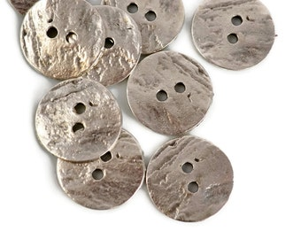 Mykonos Button - 20mm Pewter - Cornflake Greek Pewter Button