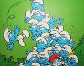 It Isn't Easy Staying On Top - Vintage Smurf Poster from 1980s