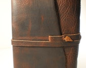Leather Bound Journal Oil Tanned Bison Hide 5x7 Acid Free Artist Drawing Paper Warm White pages
