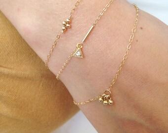 Thin x1 gold filled bracelet