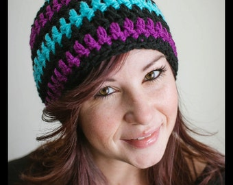 Crocheted Hat - Striped