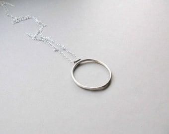 Silver Hoop Necklace
