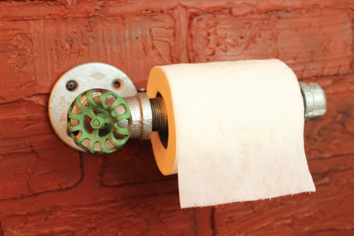 Industrial Galvanized Pipe Toilet Paper Holder By Hanormanor